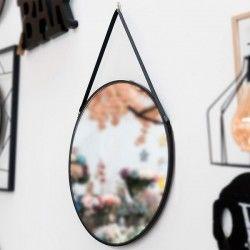 Hanging mirror Black 111836