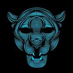 Mask Led Panther
