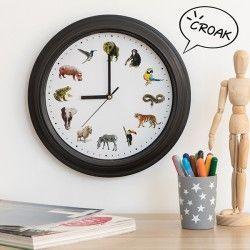 Wall Clock Animals Sound
