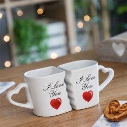 Linked Mugs with Heart...
