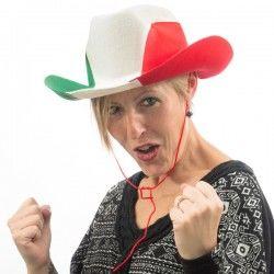 Italian Flag Cowboy Hat