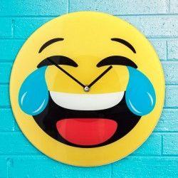 Laughing Emoji Wall Clock