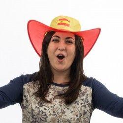 Spanish Flag Foldable Hat